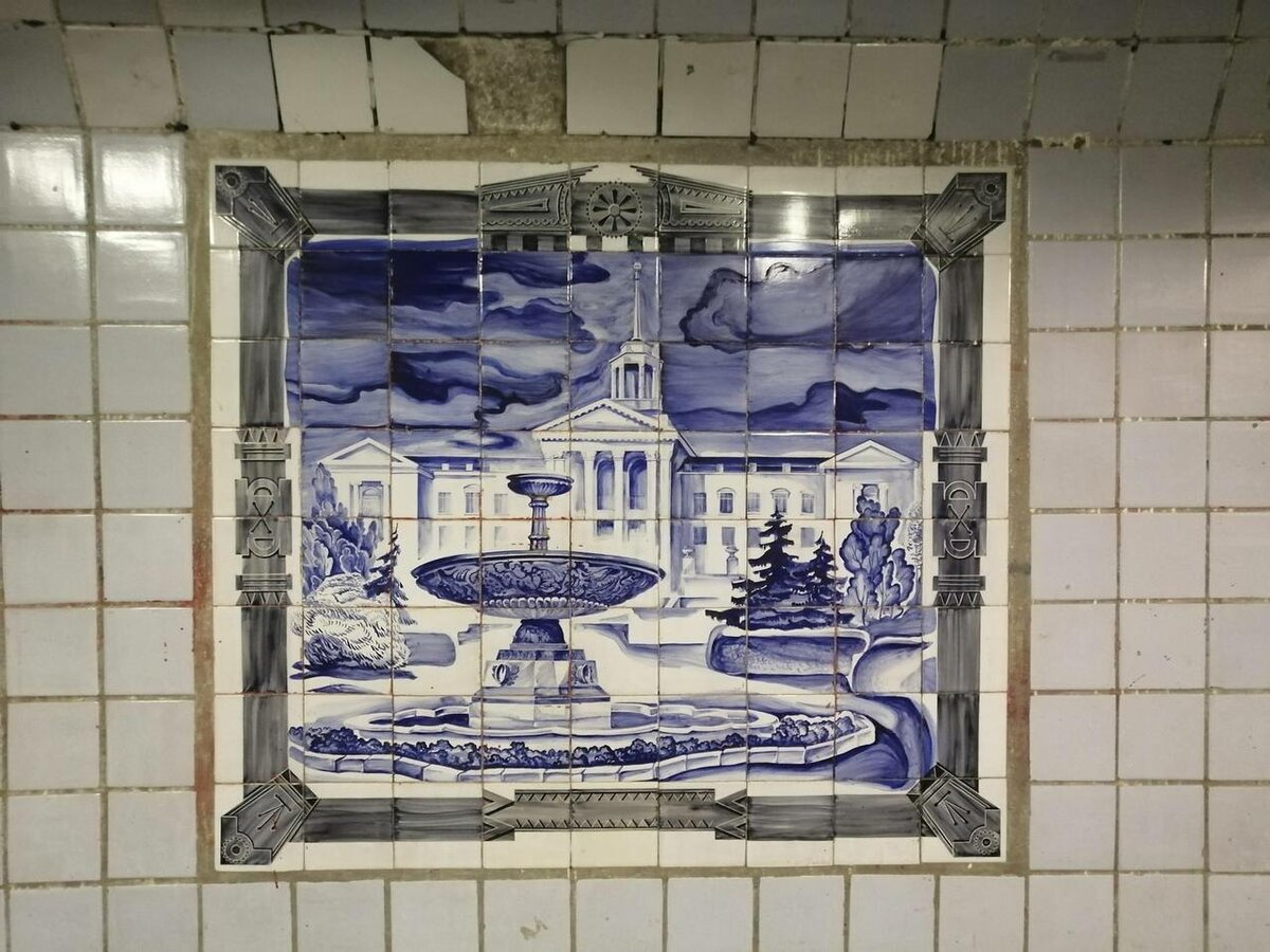 Soviet Murals Unexpectedly Found Behind Commercial Booths