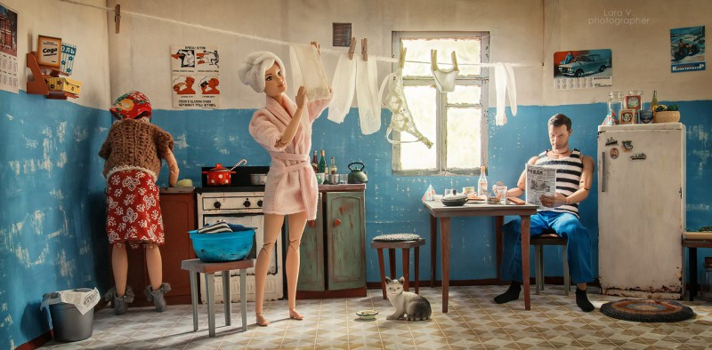 Daily Soviet Routine of Barbie and Ken