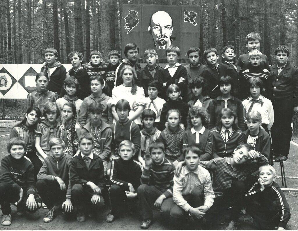 «Сосновый бор». Пионерский лагерь, 1 - 24 июля 1986 года, Новосибирская обл., из архива Сергея Куницина.