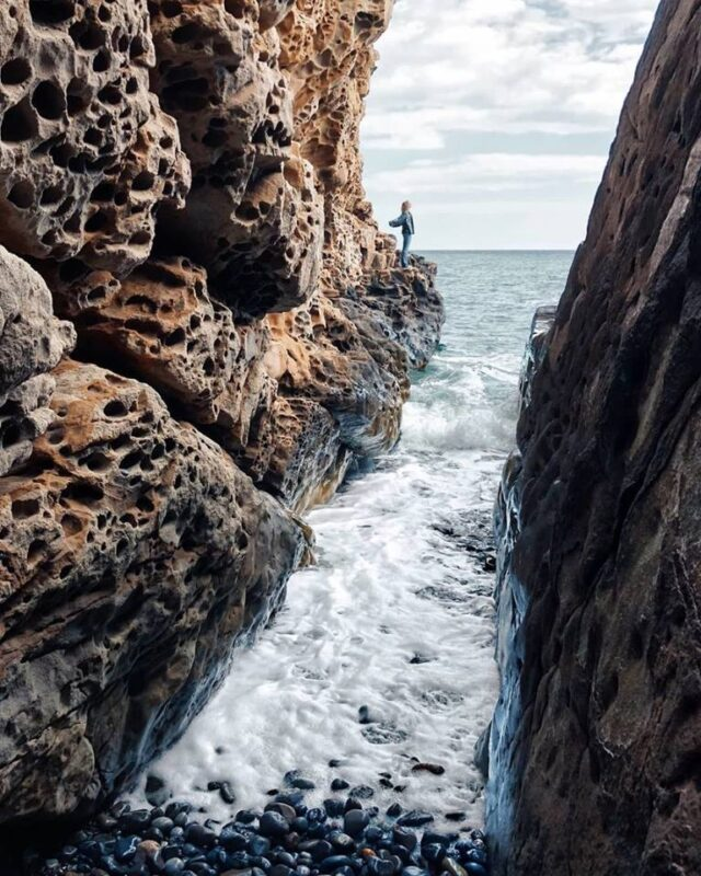 """Cheesy"" Rocks on the Crimean Shore"