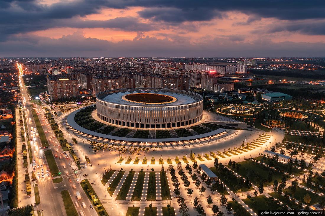 парк галицкого, парк краснодар, стадион