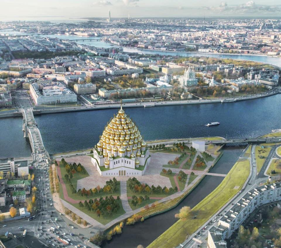 320-Domed Church Is Likely to Be Built in St. Petersburg