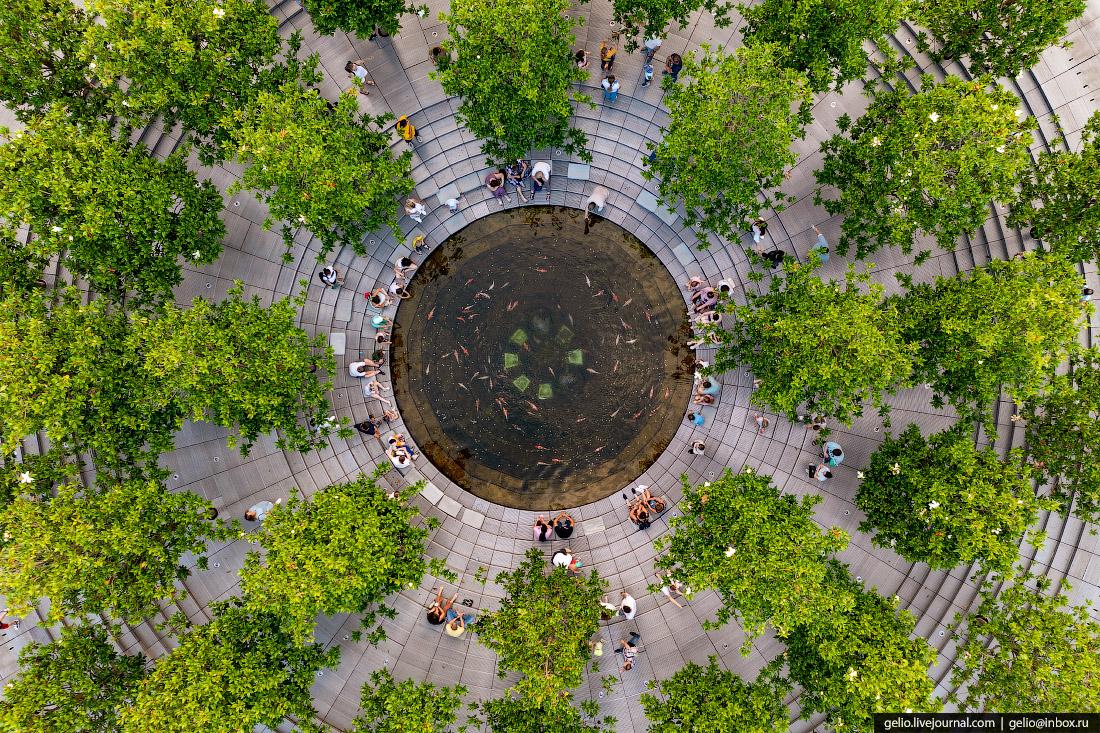 парк галицкого, парк краснодар, кратер