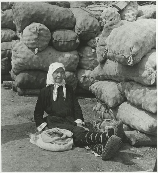 Старая крестьянка. Юрий Кривоносов, 1957 год, Чувашская АССР, МАММ/МДФ.