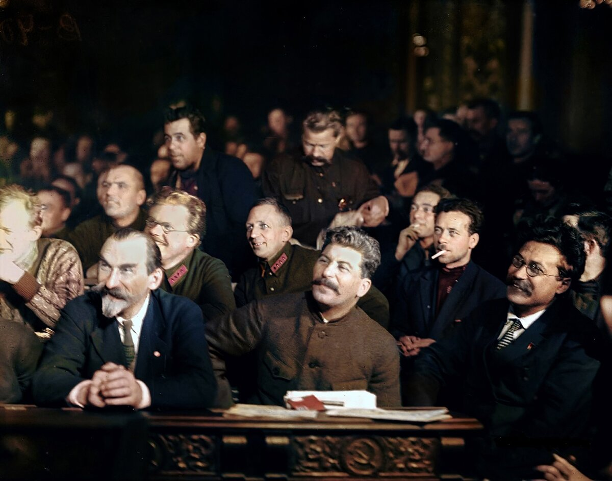 На XV съезде ВКП(б). Москва. 1927 г.