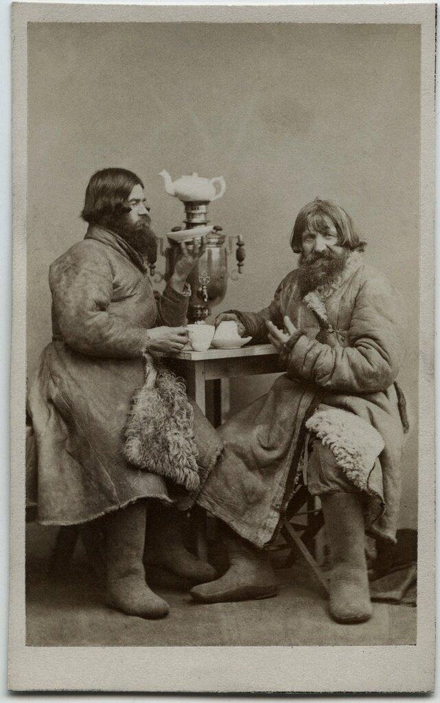 Чаепитие. Вильям Каррик, 1860 - 1870 год, г. Санкт-Петербург, из архива Сергея Максимишина.