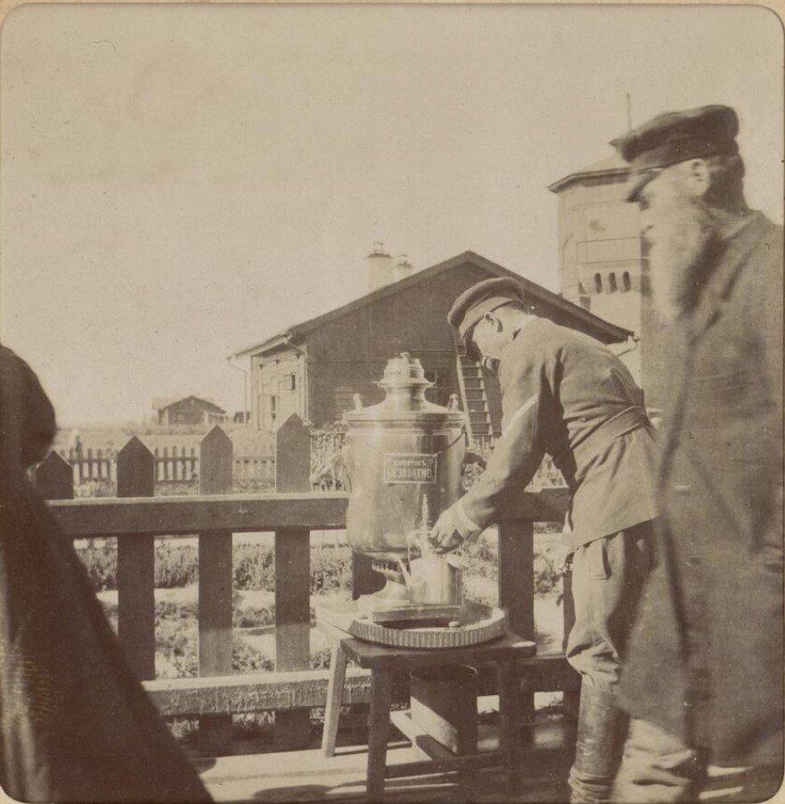 На станции Курган. Амур-Огюст-Луи-Жозеф Бертло де Бай, 1897 год, Тобольская губ., Курганский у., г. Курган, из архива Макса Орлова.
