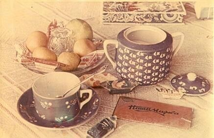 Реклама кондитерской фабрики имени Бабаева. Неизвестный автор, 1960-е, МАММ/МДФ.