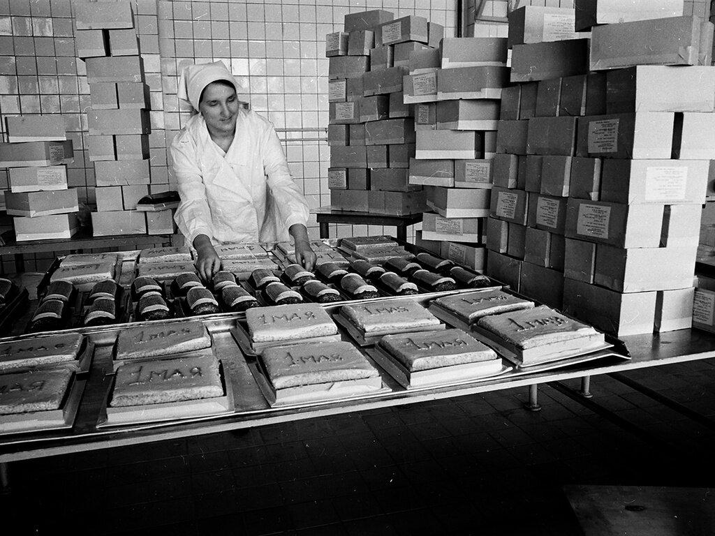 Комбинат хлебобулочных и кондитерских изделий № 3. Валентин Хухлаев, 15 апреля 1965 года, г. Москва, из архива Валентина Хухлаева.