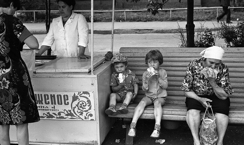 Мороженое. Владимир Воробьев, 1983 год, г. Новокузнецк, МАММ/МДФ.