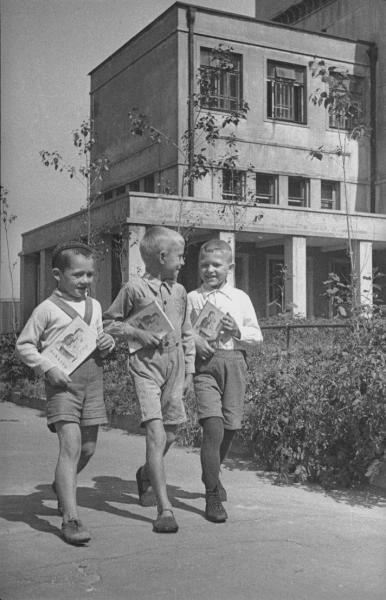Первоклассники школы № 429. Сергей Васин, 1940 год, г. Москва, МАММ/МДФ.