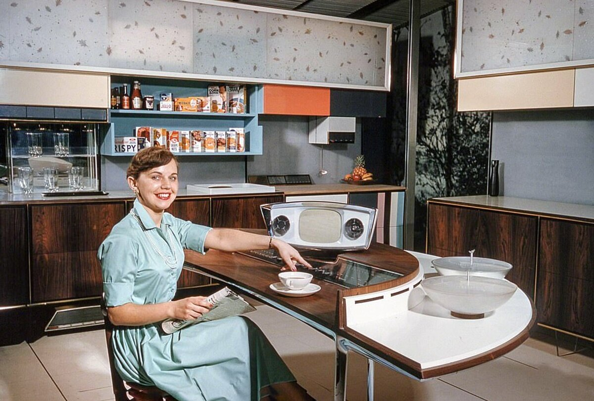 Kitchen of the Future Demostrated to Soviet People in 1959